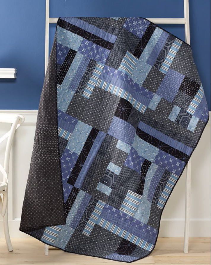 Inspired by the authentic art of Katagami, the Boro quilt, designed by Cheryl A. Adam for Coats and Free Spirit uses the beautiful Katagami fabric collection by Parson Gray (Free Spirit). This will be a great weekend project if you're machine quilting it, enjoy! http://www.freequiltpatterns.info/free-pattern---boro-katagami-quilt-by-cheryl-a-adam.htm