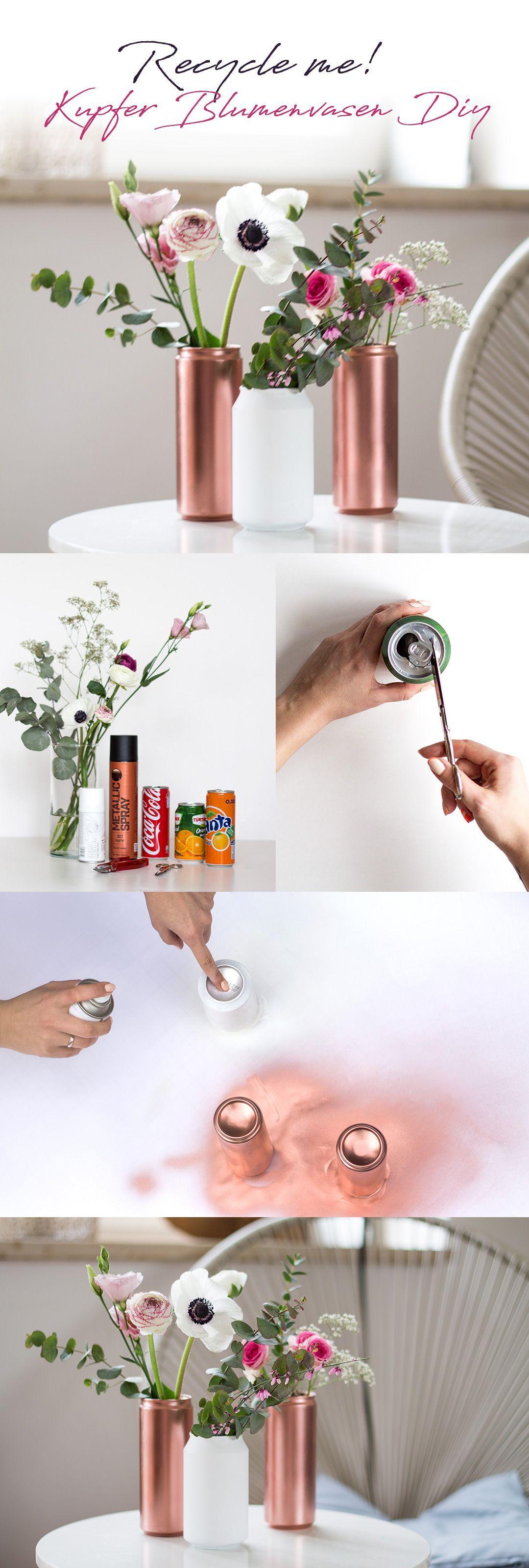 Recycle me - Kupfer Blumenvase selbstgemacht #neuesdekor