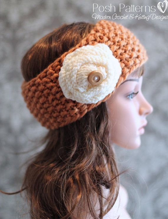 Knitting Pattern Knit Headband Pattern Includes By Poshpatterns