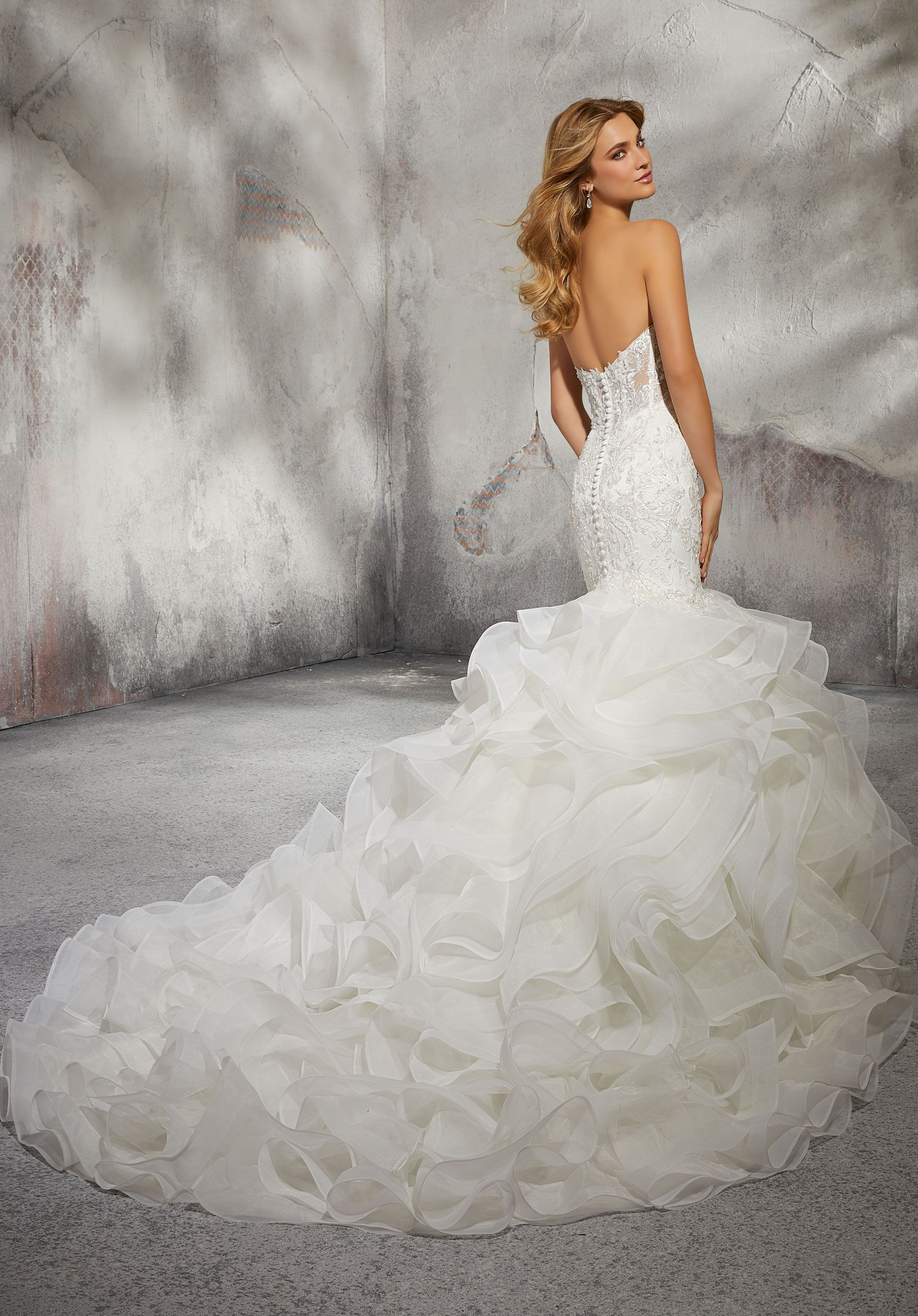 15dd30f76dc83 Leona Wedding Dress in 2019 | Gowns | Wedding dresses, Trumpet style ...