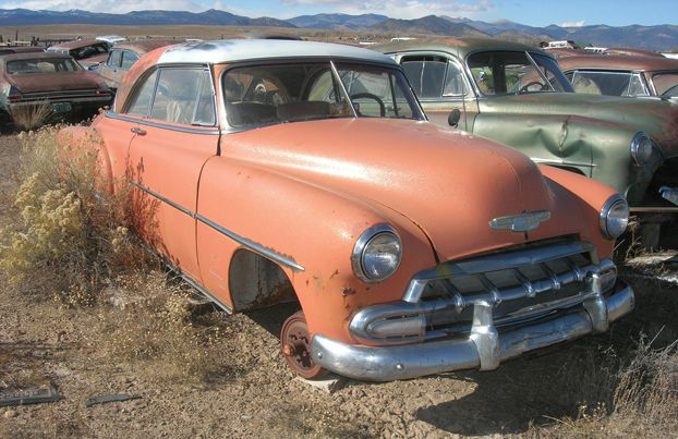 During A Recent Road Trip To Colorado I Discovered Ernest And Sons Auto Wrecking After A Meandering Drive On Unpaved Sta Car Chevrolet Chevrolet Ford Courier