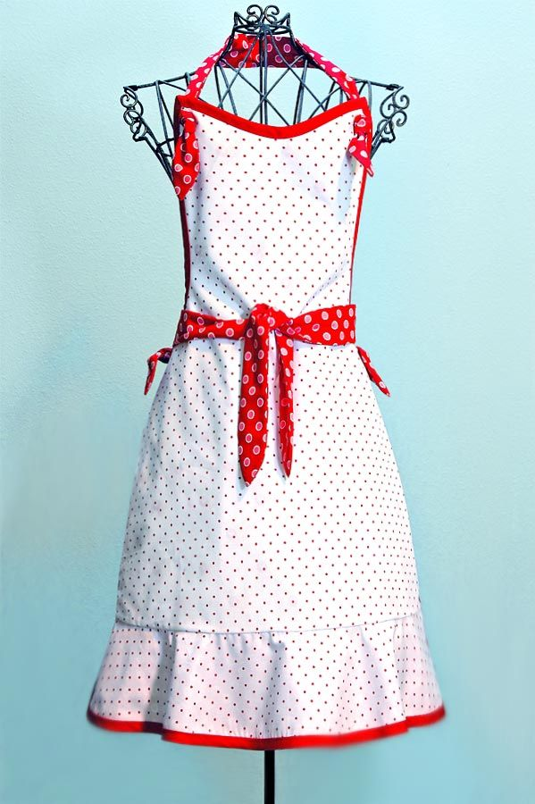 Vintage Style Apron pattern and directions. | My Love for Aprons ...