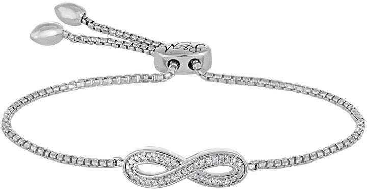 Fine Jewelry Rhythm and Muse Diamond Accent Sterling Silver Infinity Bracelet qPbFnZNRPl