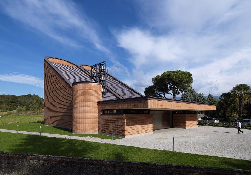 Church Of Santa Maria Nuova By Mario Botta Architetti In 2020 Exterior Cladding Sacred Space Church