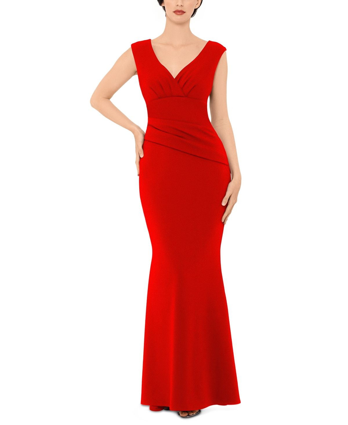 Betsy /& Adam Womens Plus One Shoulder Full Length Evening Dress