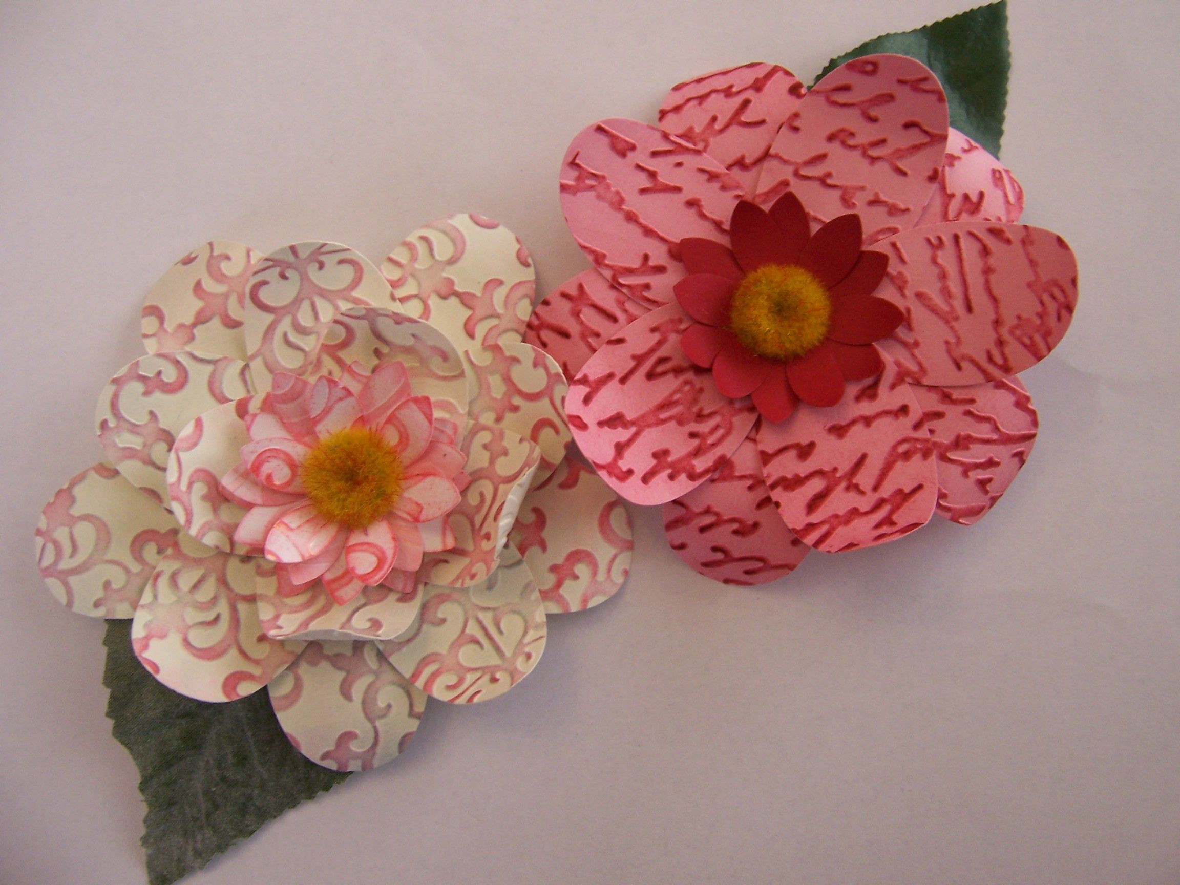 Card Making Using Paper Punches How To Make Beautiful Flowers