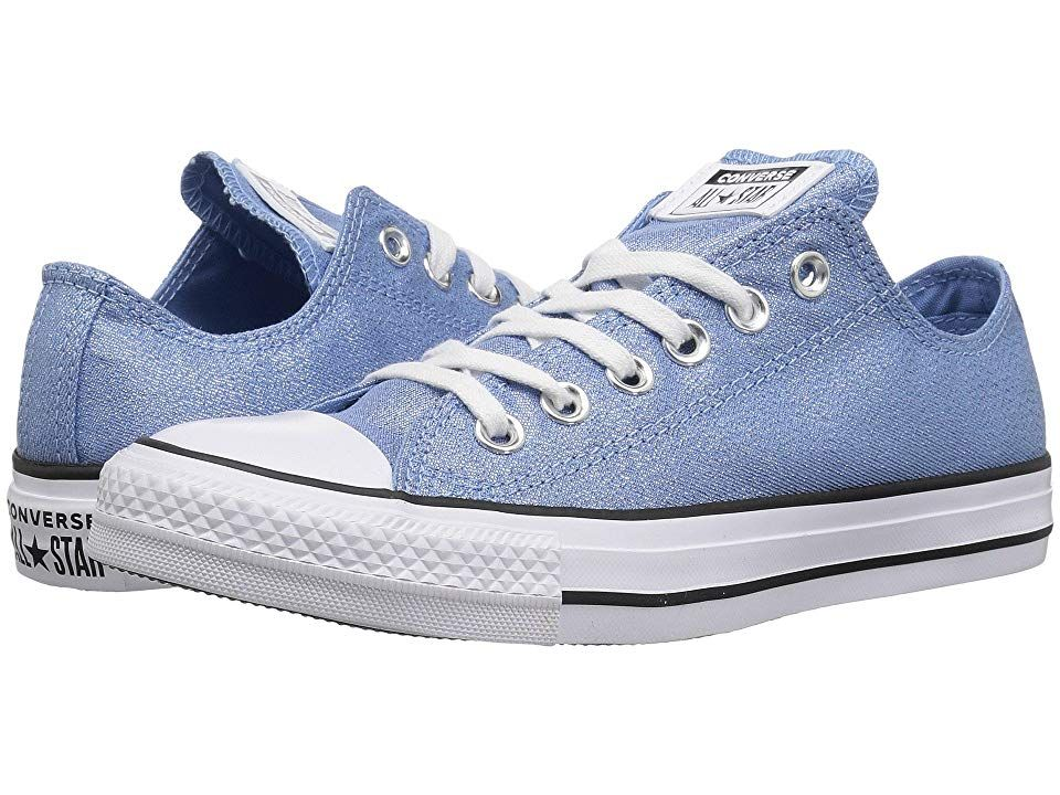 c2b622d37b01 Converse Chuck Taylor All Star - Precious Metals Textile Ox Women s Lace up casual  Shoes Light Blue White Black