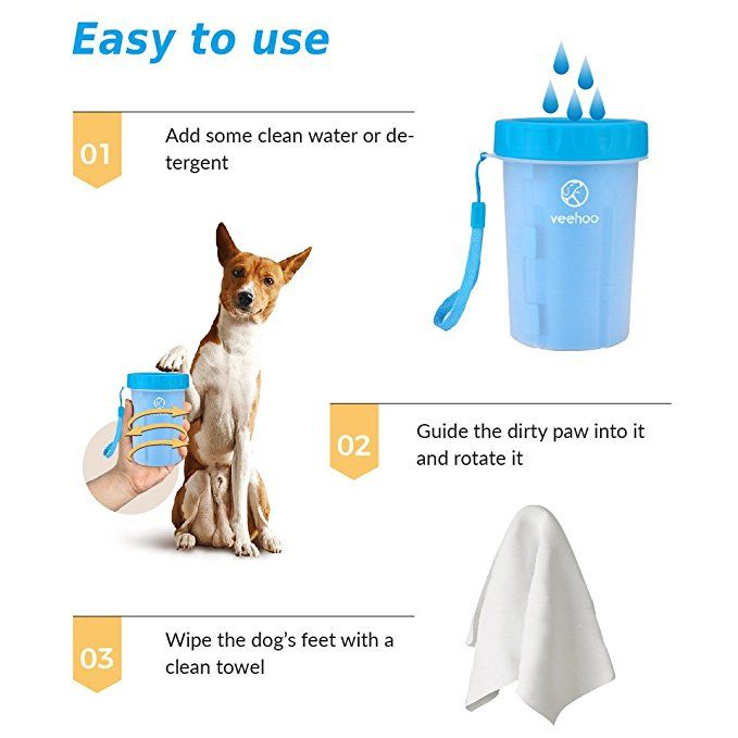 Amazon Com Veehoo Portable Dog Paw Cleaner Pet Foot Washer Cup