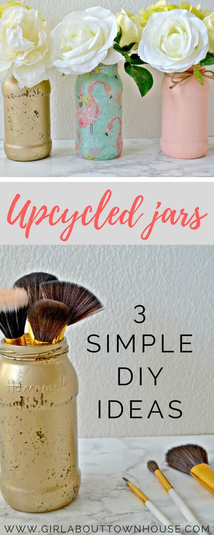 Upcycle jars three simple diy ideas easy diy projects upcycling