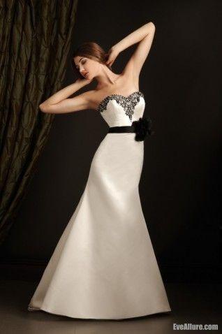 Trumpet/Mermaid Sweetheart Court Train Satin Wedding Dress with ...