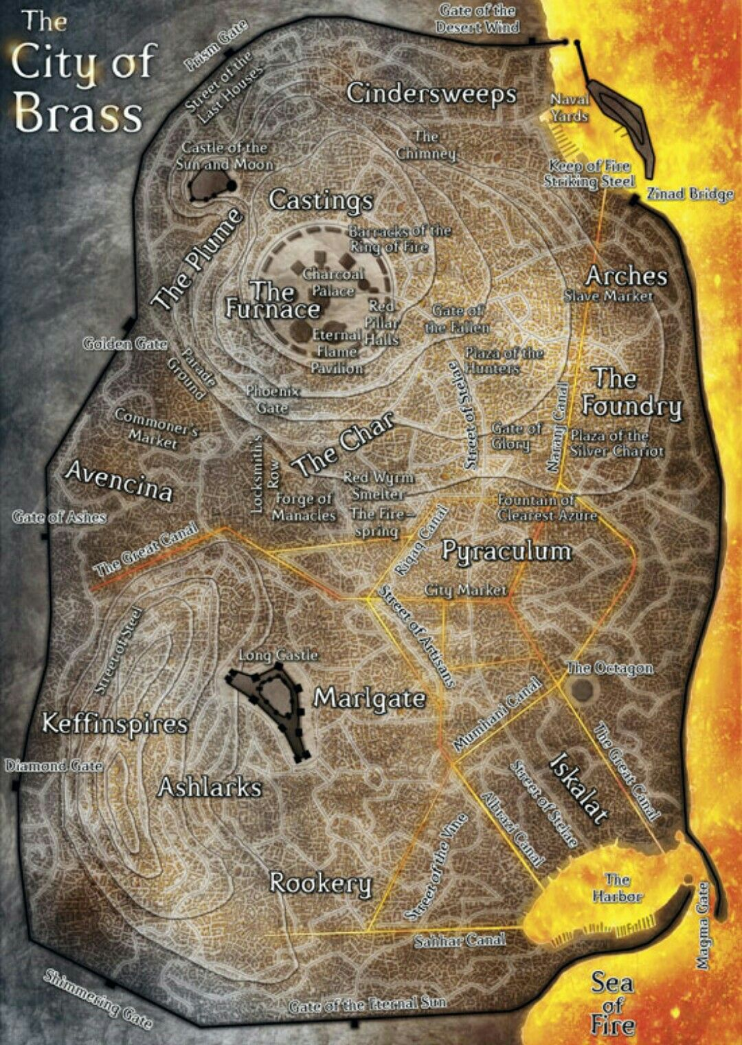 Map - The City of Brass   D&D   Pinterest   RPG, Fantasy map and ...