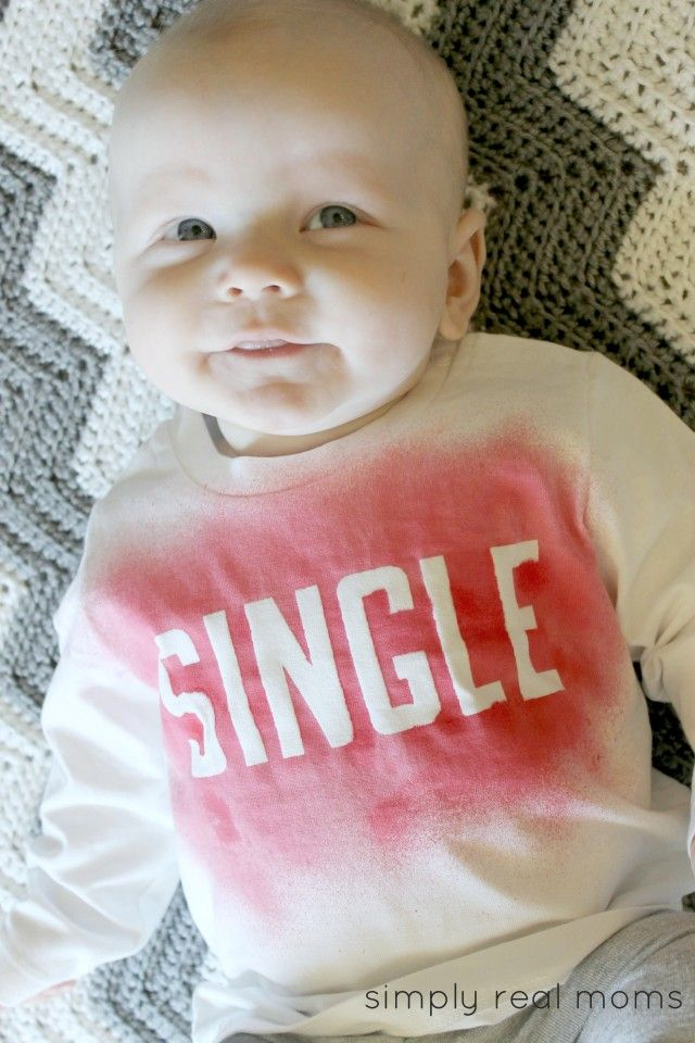 24c4e33a DIY Valentines Shirt. This is quick and easy to make-create a custom shirt  for Valentine's Day!!