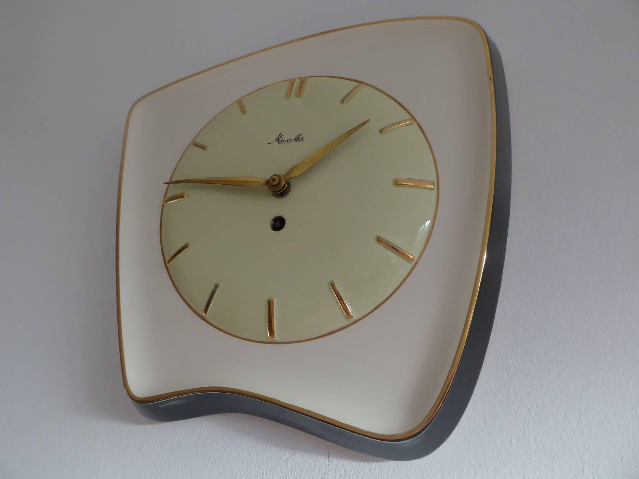 Küchenuhr Retro ~ Fantastic mauthe german made wall clock küchenuhr rockabilly