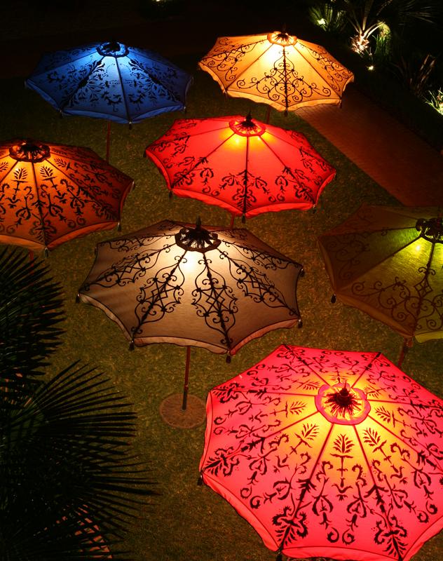 Outdoor Umbrella Lighting Lighting up the night patio umbrellas patios and lights lighting up the night workwithnaturefo