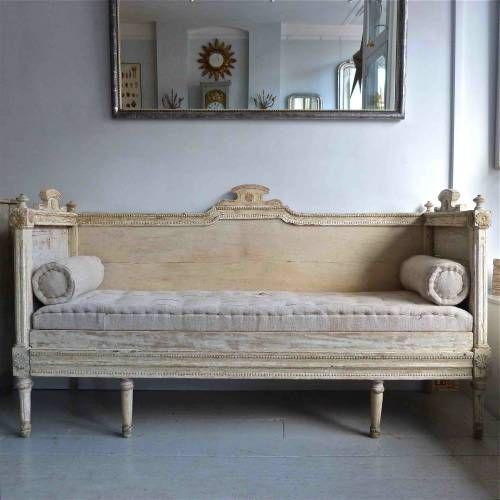 Gustavian Sofa Bed In Antique Furniture
