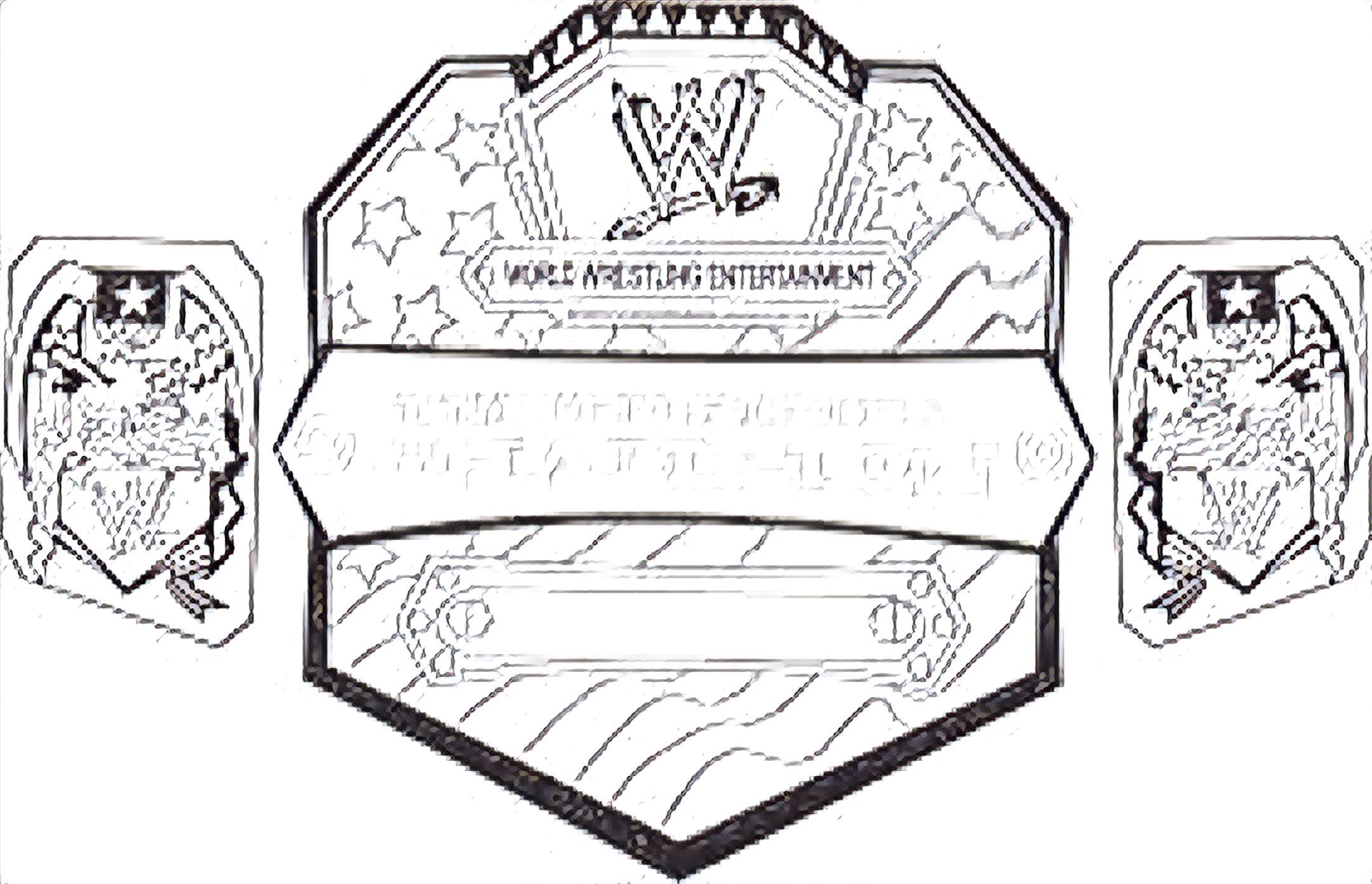 Pin de Corey Bella en Colouring pages WWE Belts Colouring | Pinterest