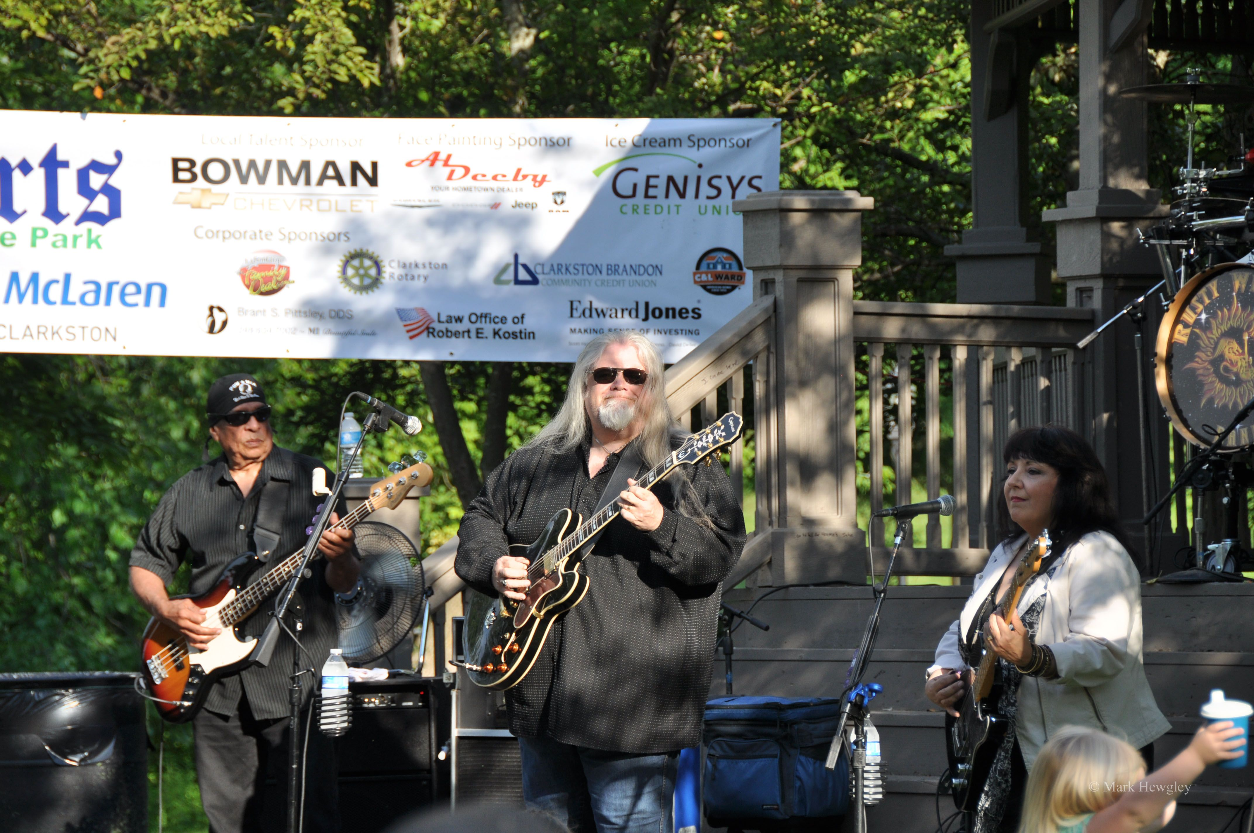 PHOTO: The Rusty Wright Band plays at Concerts in the Park, Clarkston 2014