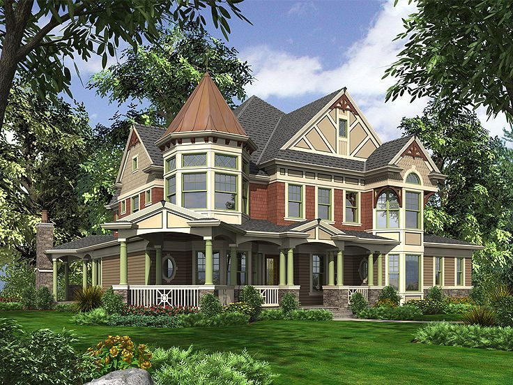 035h 0092 Luxurious 3 Story Victorian Home Plan Victorian House Plans Dream House Plans House Plans