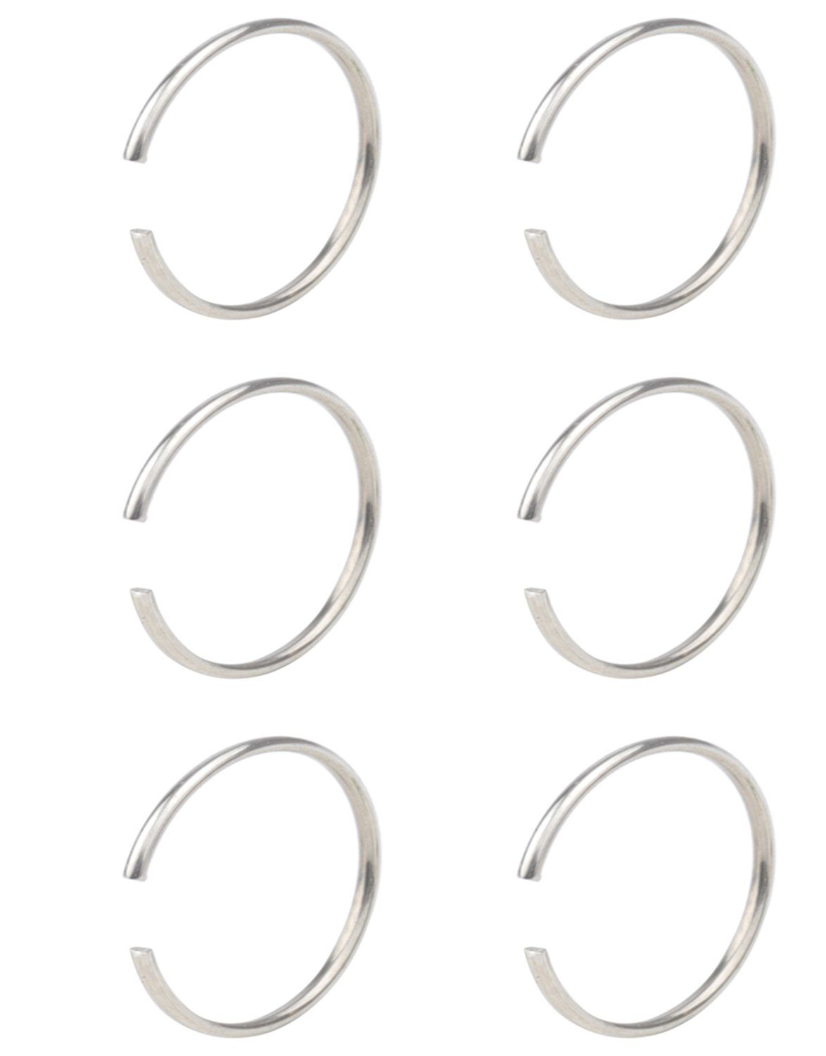 Without piercing nose ring  FB G Nose Hoop Ring Nose Studs Rings Stainless Steel Body Jewelry