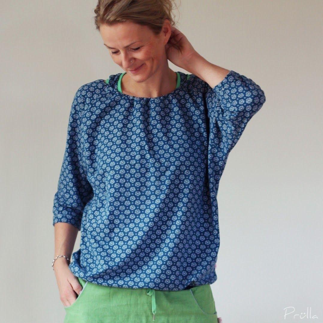 Schnittmuster Alice - Shirt (auch Sweatshirt) mit Fledermausärmeln ...