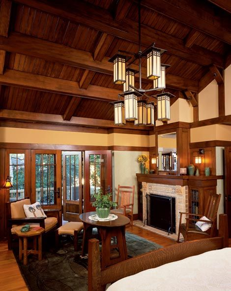Awesome Bedroom I Love Me Some Arts And Crafts Craftsman Interior Arts And Crafts Interiors Craftsman Style Homes