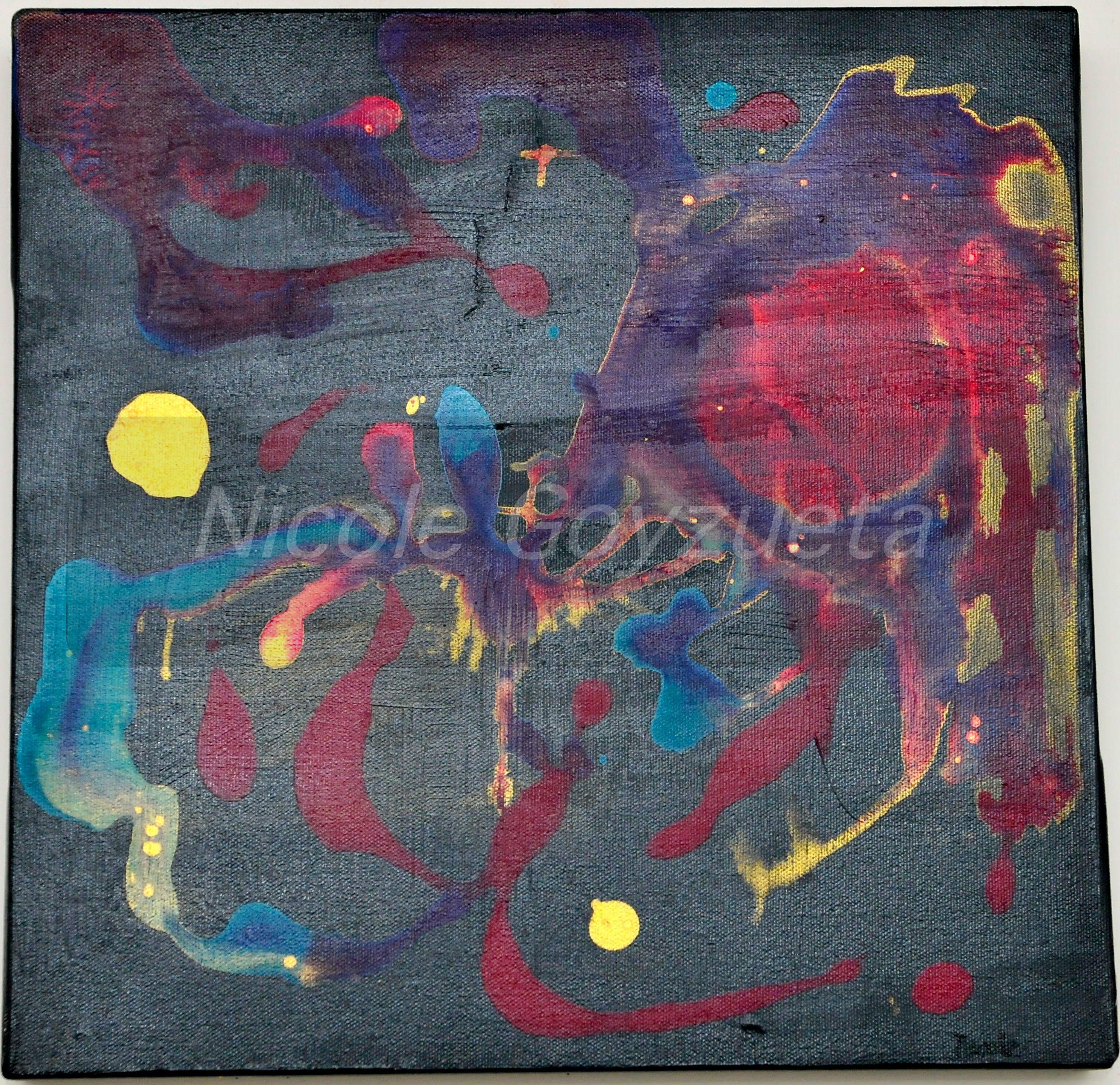 Blast 3... 12X12 acrylic on canvas.