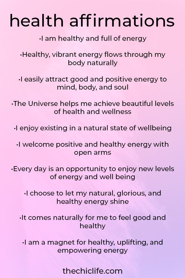 10 Health Affirmations for Well Being - The Chic Life