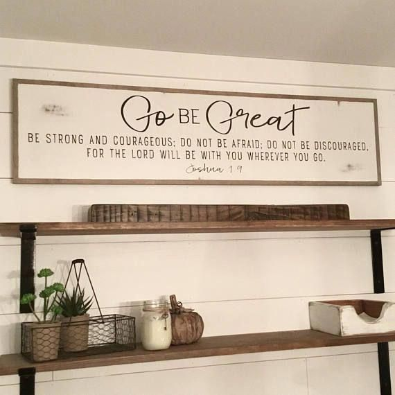 GO BE GREAT 1X4 sign distressed shabby chic