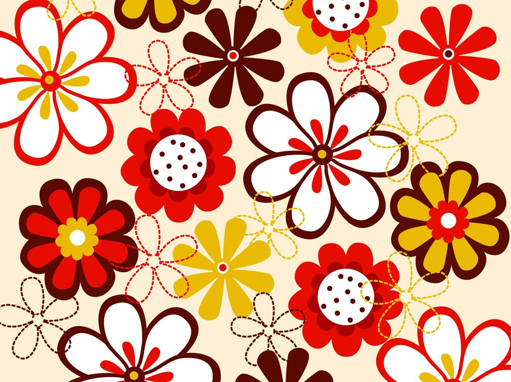 Spring vector footage of decorative flowers. Colorful