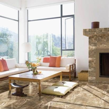 Photo Features Danya In Riverbed 12 X Field Tile A Grid Pattern On The Living Room InspirationLiving IdeasModern