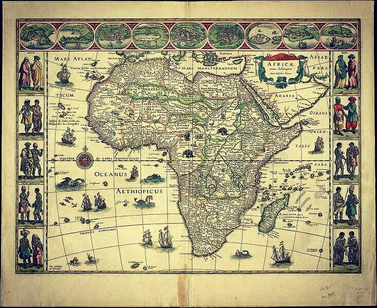 THE LAND OF YISRAEL IS NORTH EAST AFRICA. 15TH CENTURY MAP BEFORE