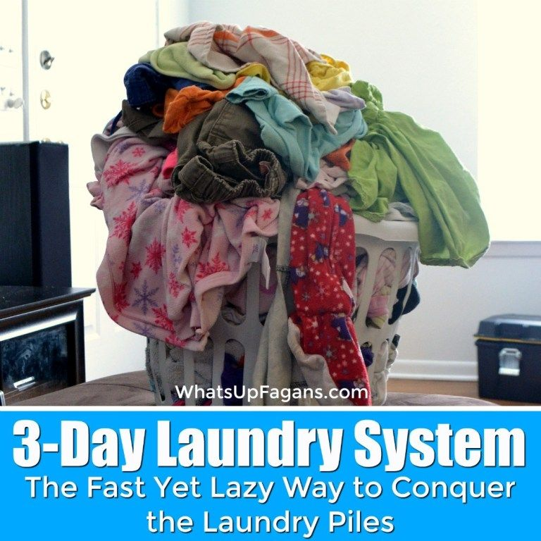 The Lazy Yet Efficient Way to Only Do Laundry 3 Days a Week