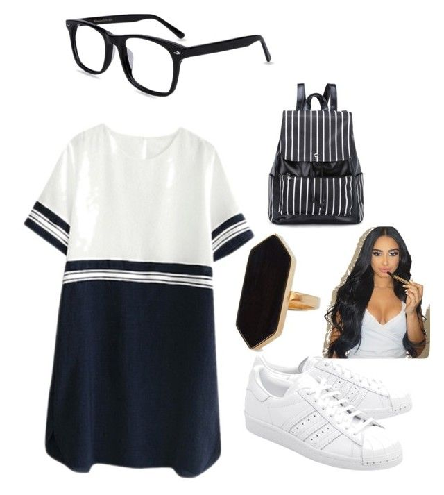 """don't care 😎😋😏"" by queens12345 ❤ liked on Polyvore featuring adidas Originals and Jaeger"