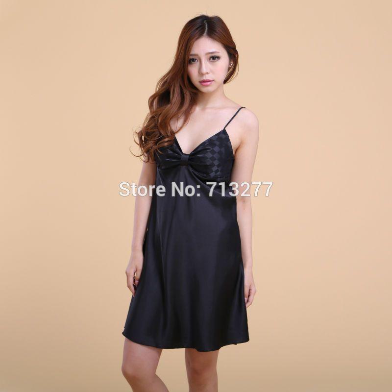 Cool Ssh005 Top Sale Nightgown Sleepshirt Silk Plus Size Bathrobe