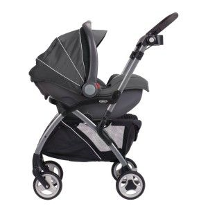 While there may not be many bells and whistles on this @Graco stroller/car seat combo, you can feel great about the ease and convenience of this duo. You can easily fold it with one hand and the all-wheel suspension guarantees you a smooth ride on every surface. But just keep in mind you will still need an umbrella stroller when baby grows out of infant car seat.