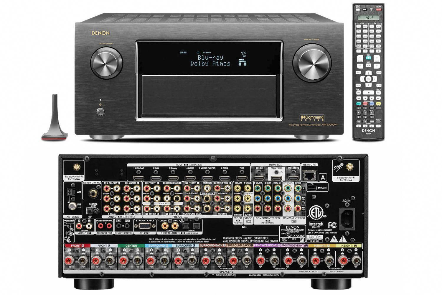 The Denon Avr X7200wa Home Theater Receiver Features Dolby Atmos And Dts X Audio Decoding A Home Theater Best Home Theater Best Home Theater Receiver