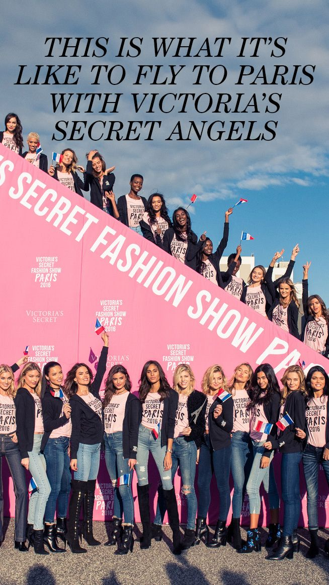 83023b6618 This is What It s Like to Fly to Paris with Victoria s Secret Angels ...