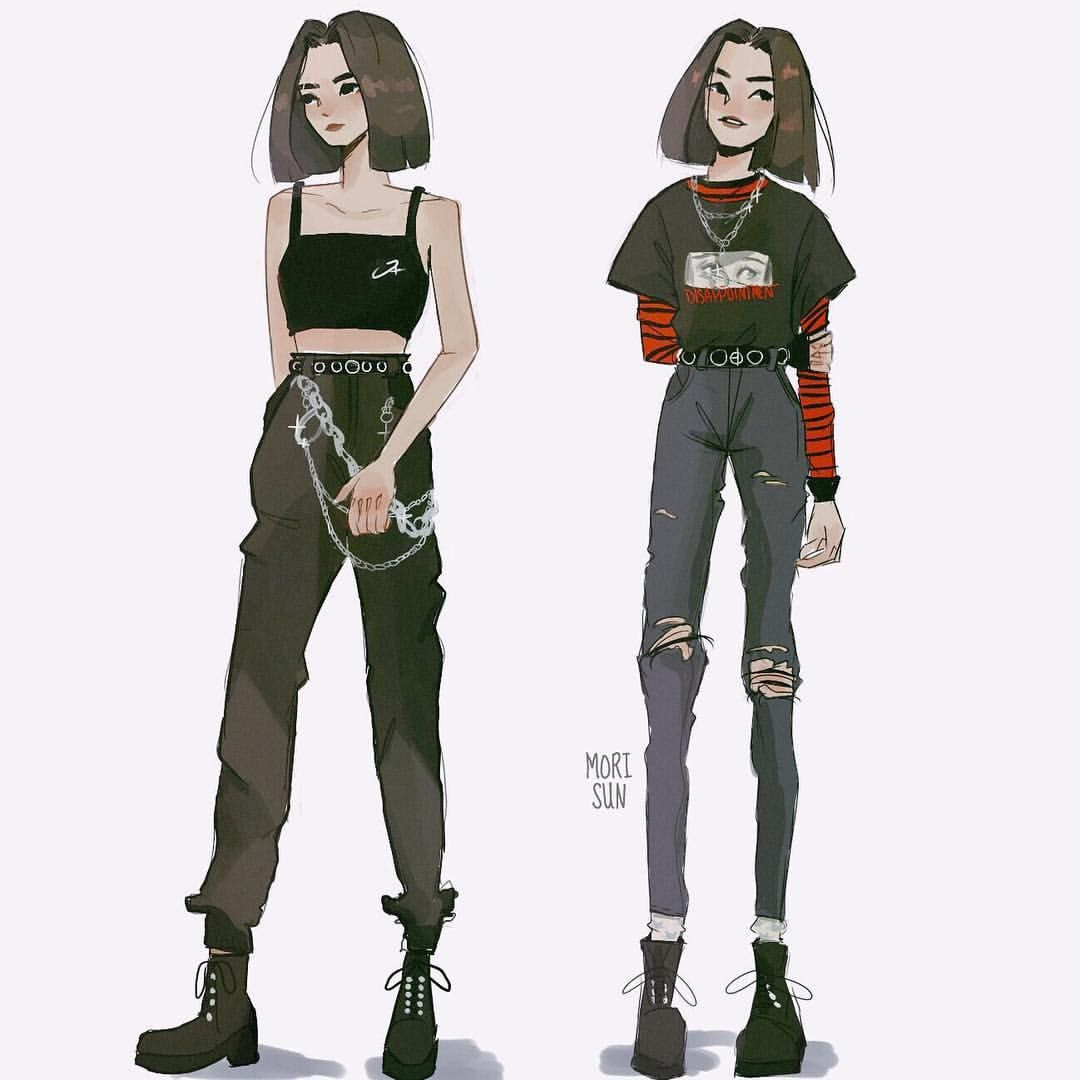 She S A Trendsetter I Guess Morisunocs Outfit Refs I Got From Pinterest Digitalart Original In 2020 Fashion Design Drawings Aesthetic Clothes Art Clothes