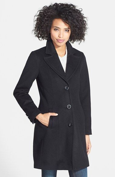d67b00cc96c0f Kristen Blake Wool Blend Walking Coat (Regular   Petite) available at   Nordstrom