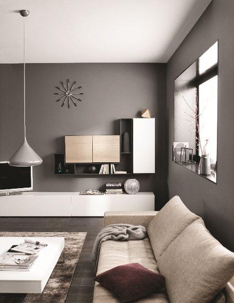 die graue wand wohnung pinterest graue w nde w nde und grau. Black Bedroom Furniture Sets. Home Design Ideas