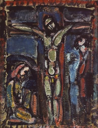 Crucifixion - Georges Rouault - - Expressionism, 1937