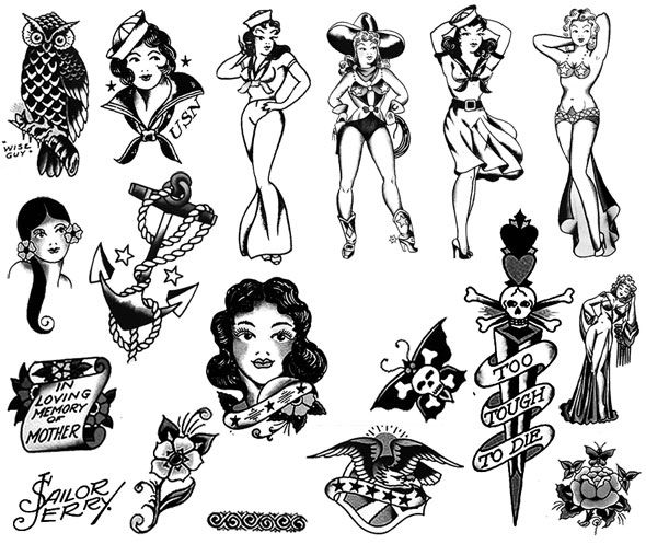 Free Photoshop Brushes Sailor Jerry Tattoos Sailor Jerry Sailor Tattoos