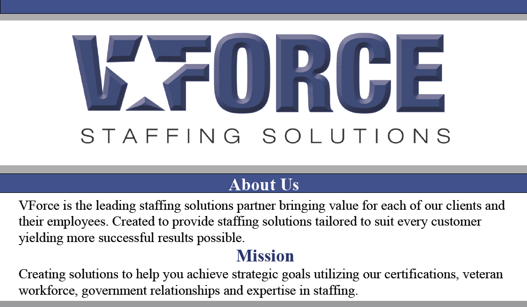VForce Staffing - We hire veterans!