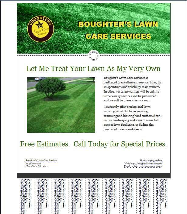 lawn care flyer - Google Search My Stuff Pinterest - flyer outline