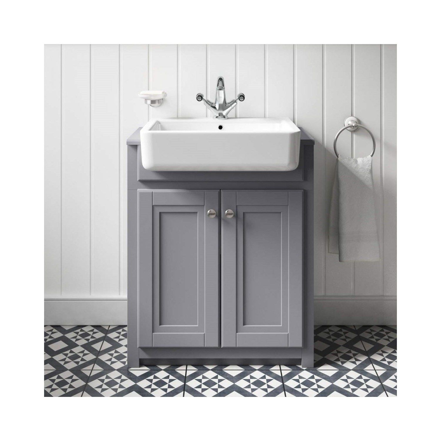 Butler & Rose Darcy Traditional Floorstanding Vanity Unit ...