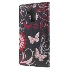 Huawei Honor 7 Lite kukkia ja perhosia puhelinlompakko.