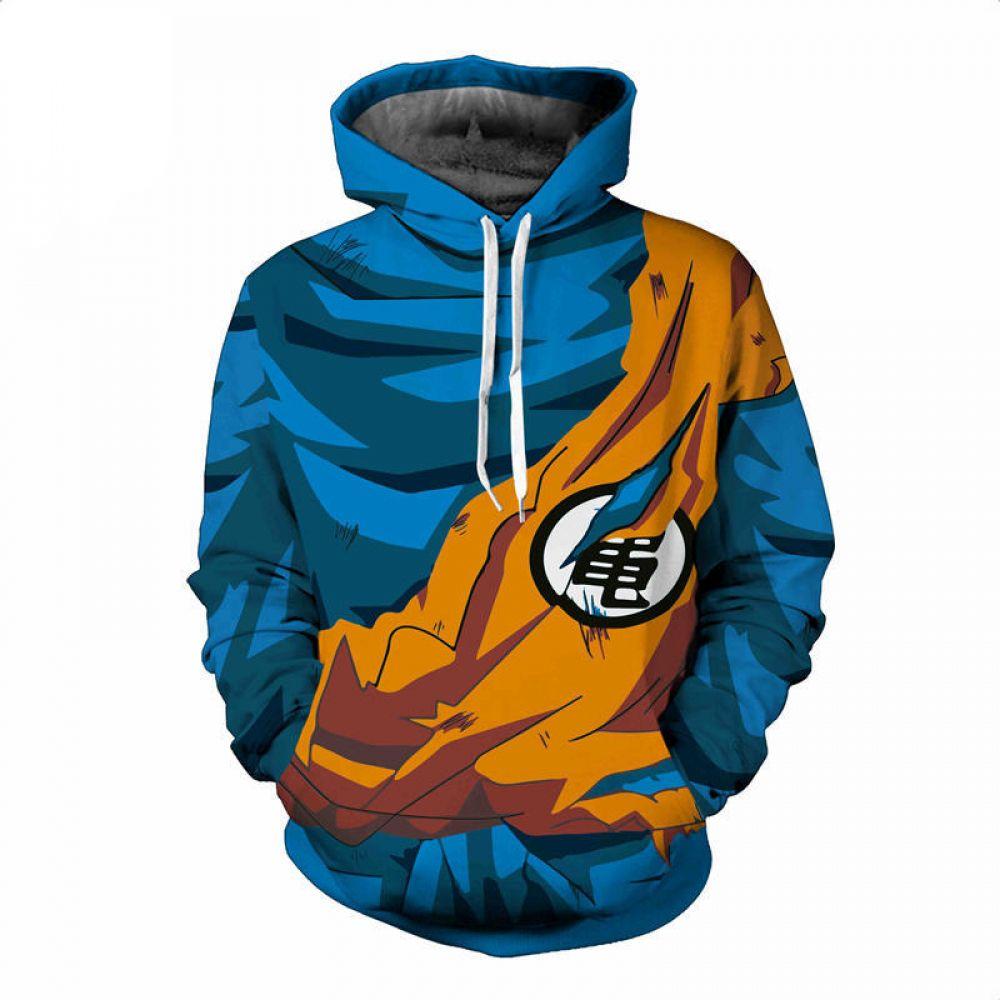 Dragonball naruto 3d print long sleeve hooded sweatshirts