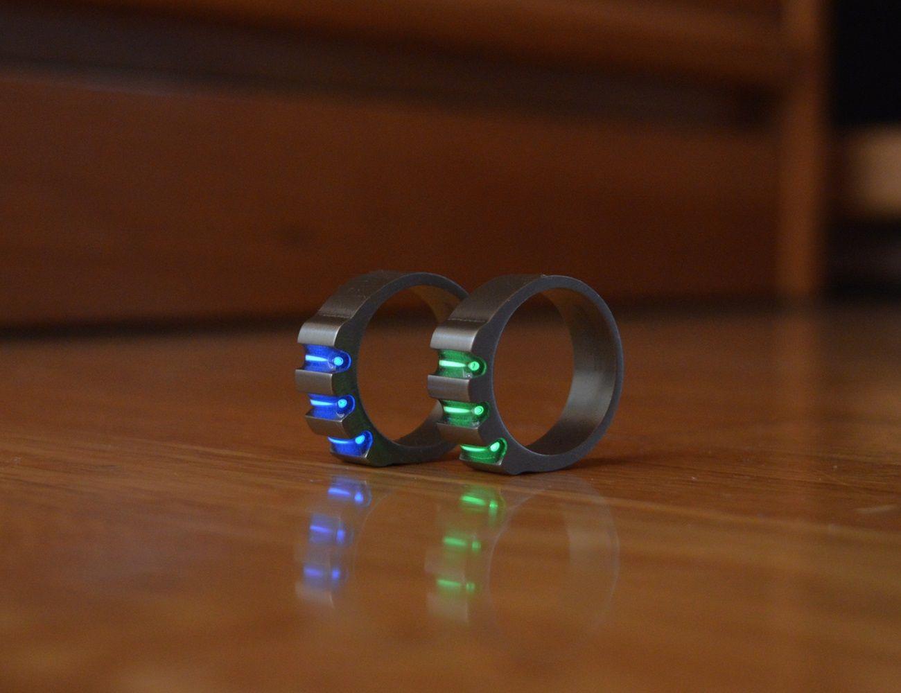 Titanium Tritium Rings Wedding Rings Wedding Rings Unique Wedding Rings For Women