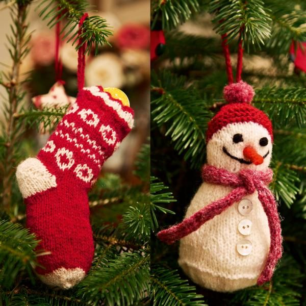 Stocking and snowman: free patterns | Christmas knitting ...