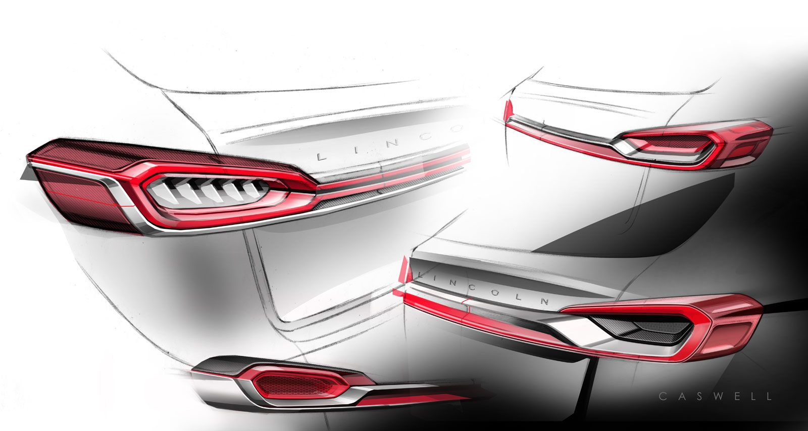 Lincoln Mkx Concept Tail Lamp Ideation Design Sketches Car